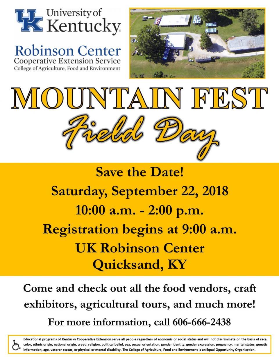 Mountain Fest Field Day Flyer