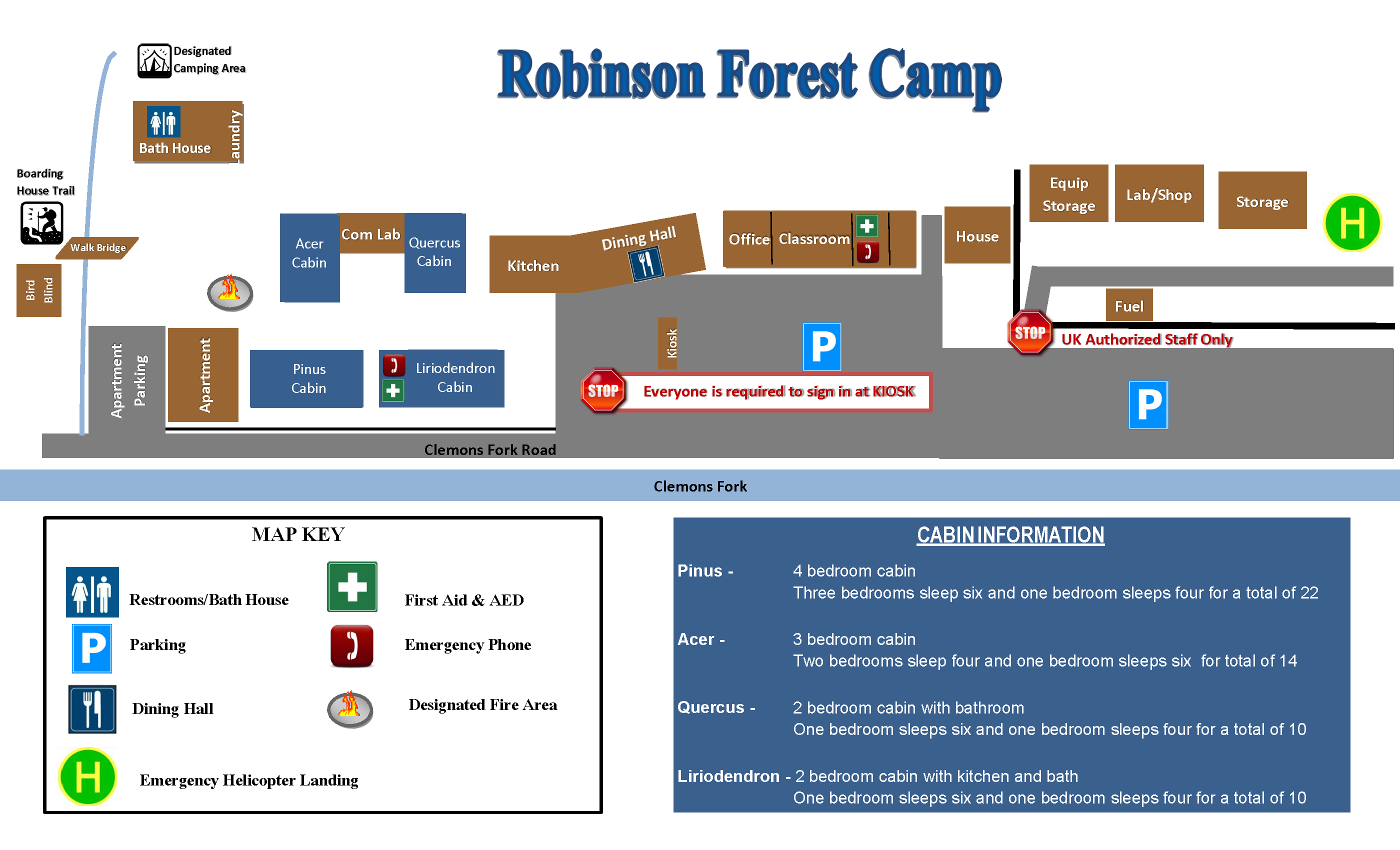 Robinson Forest Camp Map