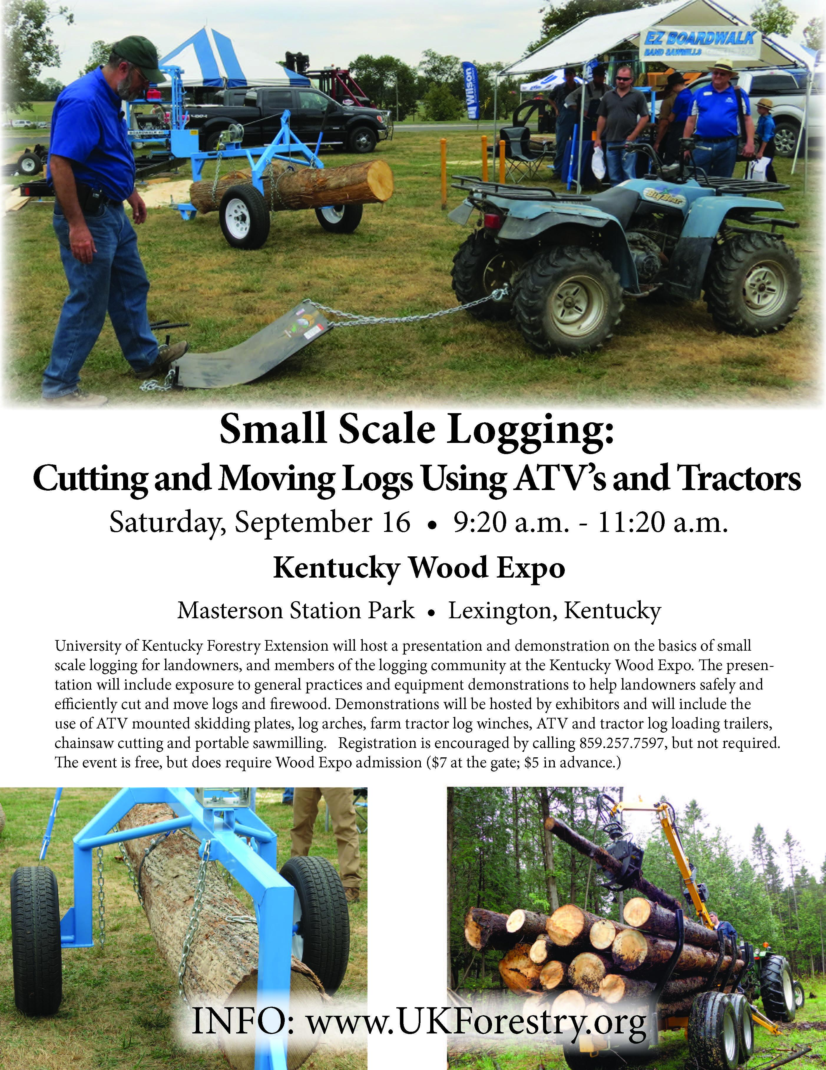 Small Scale Logging Flyer